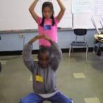 students showing drama skills